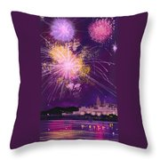 Fireworks In Malta Throw Pillow