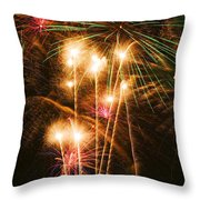 Fireworks In Night Sky Throw Pillow