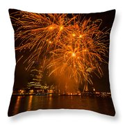 Fireworks London Throw Pillow