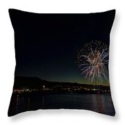 Fireworks On The River Throw Pillow