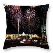 Fireworks Over Firelake Throw Pillow