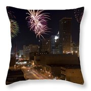 Fireworks Over The City Throw Pillow