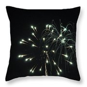 Fireworks With Moon II Fm2p Throw Pillow