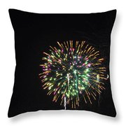 Fireworks With Moon IIi Fm3p Throw Pillow