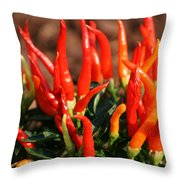 Firey Red Hot Chili Peppers Throw Pillow
