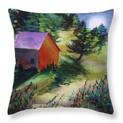 First Full Moon Night Throw Pillow