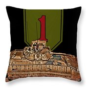 First Infantry Division Bradley Fighting Vehicle Throw Pillow