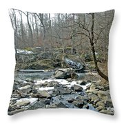 First Kiss Of Winter Throw Pillow
