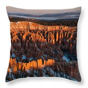 First Light At Bryce Canyon Throw Pillow
