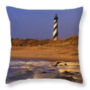 First Light At Cape Hatteras - Fs000257 Throw Pillow