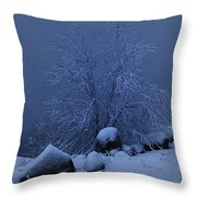 First Light First Snow II Throw Pillow