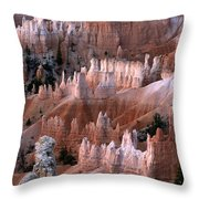 First Light In Bryce Canyon Throw Pillow