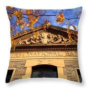 First National Bank Throw Pillow