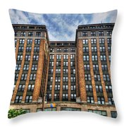 First Niagara Building With Takis Throw Pillow