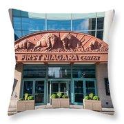 First Niagara Center Throw Pillow