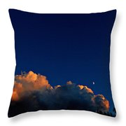 First Quarter-waxing Crescent Moon Throw Pillow