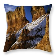 First Snow At Bryce Canyon Throw Pillow