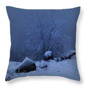 First Snow At First Light Throw Pillow