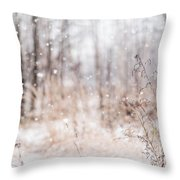 First Snow. Winter Mood Throw Pillow