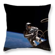 First U.s. Spacewalk Throw Pillow