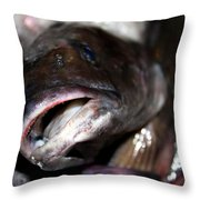 Fish Catch Throw Pillow