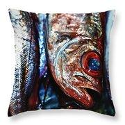 Fresh Fish At The Market Throw Pillow