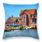 Fish House On The Island Throw Pillow