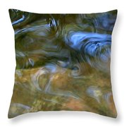 Fish In Rippling Water Throw Pillow