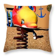 Fish Jumper Throw Pillow