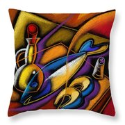 Fish Throw Pillow by Leon Zernitsky