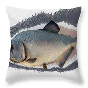 Fish Mount Set 04 C Throw Pillow