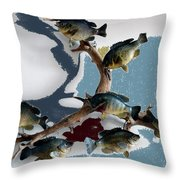 Fish Mount Set 05 B Throw Pillow