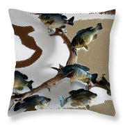 Fish Mount Set 05 C Throw Pillow
