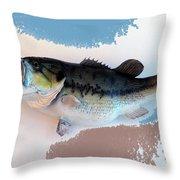 Fish Mount Set 07 B Throw Pillow