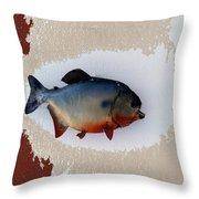 Fish Mount Set 12 C Throw Pillow