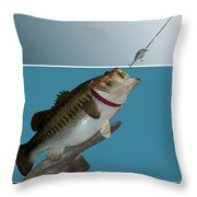 Fish Mount Set 13 D Throw Pillow