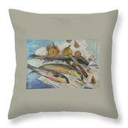 Fish Soup Throw Pillow by Juliya Zhukova