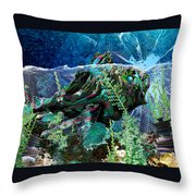 Fish Trouble Throw Pillow
