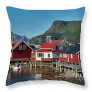 Fishermen's Houses Throw Pillow