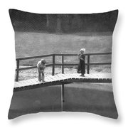 Fishers Throw Pillow