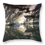 Fishin On The Little Sandy Throw Pillow