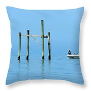 Fishing At The Bird Rack Throw Pillow