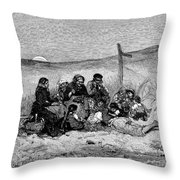 Fishing Boat, 1882 Throw Pillow