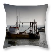 Fishing Boat Essex Throw Pillow