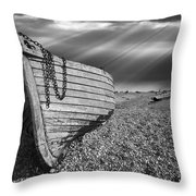Fishing Boat Graveyard 2 Throw Pillow by Meirion Matthias