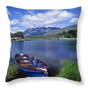 Fishing Boat On Upper Lake, Killarney Throw Pillow