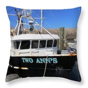 Point Pleasant - Fishing Boat Throw Pillow