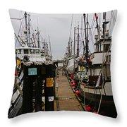 Fishing Boat Walkway Throw Pillow
