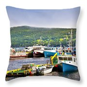 Fishing Boats In Newfoundland Throw Pillow