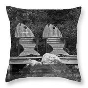 Fishing Chairs Throw Pillow